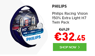 Philips 12v H7 Racing Vision +150% Brighter upgrade Twin Pack