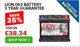Lion 063 Car Battery - 3yr Guarantee - Use Code BATTERY35