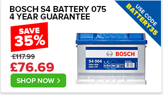Bosch S4 075 Car Battery - 4yr Guarantee - Use Code BATTERY35