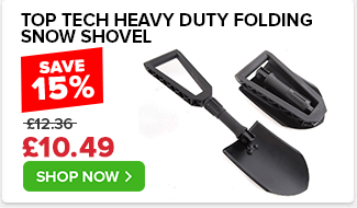 Top Tech Heavy Duty Folding Snow Shovel
