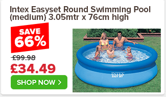 Intex Easyset Round Swimming Pool (medium) 3.05mtr x 76cm high £99.98 £34.49 66%