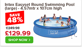 Intex Easyset Round Swimming Pool (large) - 4.57mtr x 107cm high
