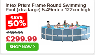 Intex Prism Frame - Premium Round Swimming Pool (xtra large) 5.49mtr x 122cm high