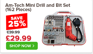 Am-Tech Mini Drill and Bit Set (162 Pieces)