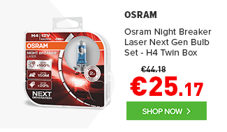 Osram Night Breaker Laser Next Gen Upgrade Headlight Bulb Set - H4 Twin Box