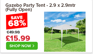 Gazebo Party Tent - 2.9 x 2.9mtr (Fully Open) £49.98 £29.99 40%