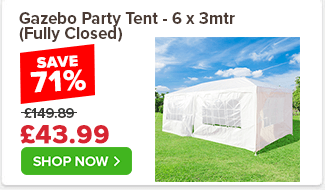 Gazebo Party Tent - 6 x 3mtr (Fully Closed) £149.89 £79.99 47%