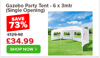Gazebo Party Tent - 6 x 3mtr (Single Opening) £129.98 £64.99 50%