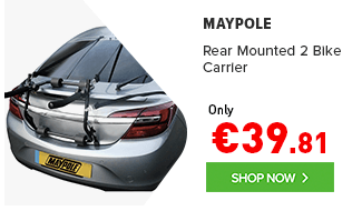 Maypole Rear Mounted 2 Bike Carrier