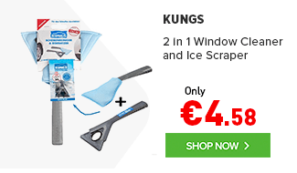 Kungs 2 IN 1 WINDOW CLEANER AND ICE SCRAPER