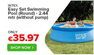 Intex Easy Set Swimming Pool (Round) - 2.44 mtr (without pump)