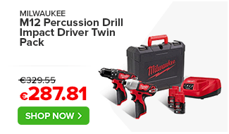 Milwaukee M12 Percussion Drill Impact Driver Twin Pack