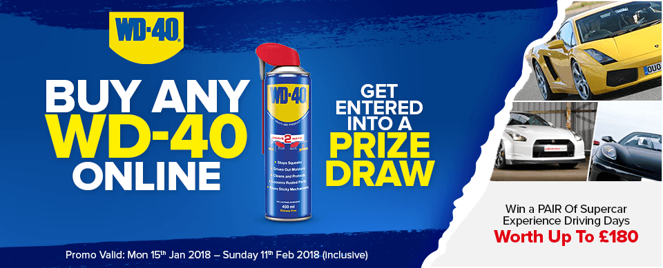 WD40 & EuroCarParts Supercar Experience Day Giveaway