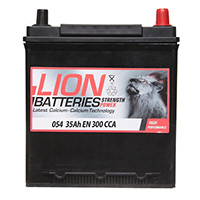 Lion 054 Car Battery - 3 Year Guarantee