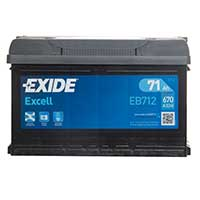 Exide Excel Car Battery 100 (71Ah) - 3 Year Guarantee - W096SE