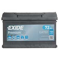 Exide Premium 100 Car Battery (72Ah) - 5 Year Guarantee
