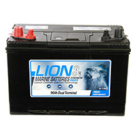 Lion Sealed Marine Battery - 90Ah Twin Terminals
