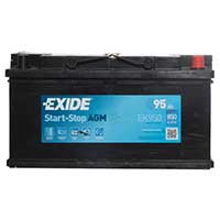 Exide AGM Battery 019 3 Year Guarantee