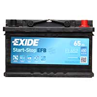 Exide EFB 100 Car Battery (EL652) - 3 year Guarantee