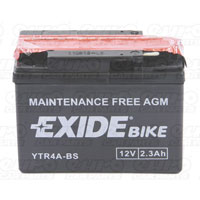 Exide ETR4A-BS Motorcycle Battery