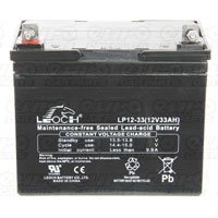 Leoch VRLA Sealed Battery - 12V 33Ah