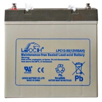 Leoch AGM Sealed Deep Cycle Battery 12V 60AH  (Lug Term)