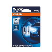 Osram Cool Blue Intense 501 Bulb 12v 5w T10 - Twin Pack