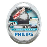 Philips Xtreme Vision PLUS 130% Extra Light - H7 Twin Pack