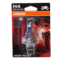 Osram OSRAM H4  Night Racer 110  Motorbike Bulb 12V 60/55W  Single Pack