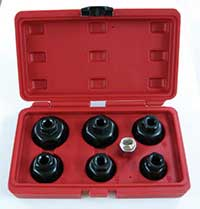 MasterPro 7 Piece Oil Filter Cap Wrench Set