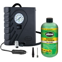 Slime Smart Tyre Repair Kit 12V Compressor And 473ml Solution