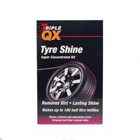 TRIPLE QX Super Concentrated Black Tyre Shine 1ltr + Trigger Bottle