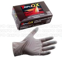 TRIPLE QX Latex Gloves Medium Pre Powdered Box of 100