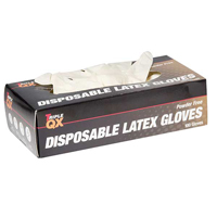 TRIPLE QX Latex Gloves Medium Powder Free Box of 100