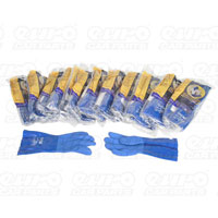 G80 Blue Nitrile PVC Coated Chemical Resistant Gloves - Size 8  (12 Pairs)