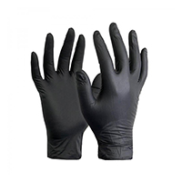 Bodyguard Black Nitrile Gloves GL8972 Medium Box Of 100