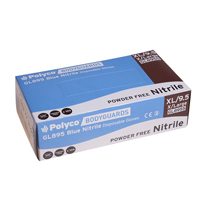 Bodyguard Nitrile P/Free Gloves Xlarge Box Of 100 Gl8955