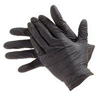TRIPLE QX Powder Free Nitrile Gloves Black - Large (Qty 100)