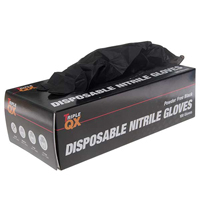 TRIPLE QX Powder Free Nitrile Gloves Black - X Large (Qty 100)