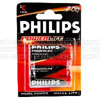 Philips Powerlife C Battery Qty 2