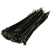 Autoport 200 X 4.8mm Cable Tie Black Qty 100
