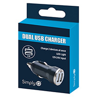 Black Dual Usb Car Charger