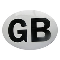 Oval GB Adhesive Sticker