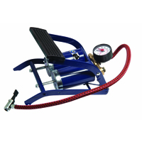 Autocare Double Barrel Foot Pump with Gauge