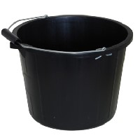 Trade Quality Martin Cox Black Bucket with Handle