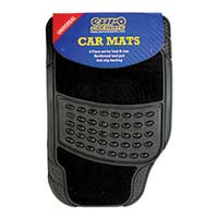 Top Tech Black Rubber Mat Set - Black Carpet Centre