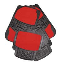 Top Tech Black Rubber Mat Set - Red Carpet Centre