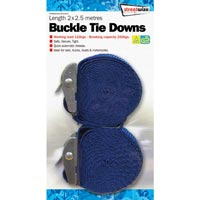 Streetwize 2.5 mtr Buckle Tie Down Pair