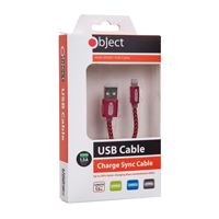 Object USB Iphone Cable Red