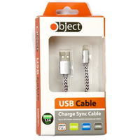 Object USB Iphone Cable Silver